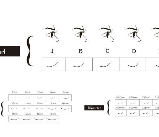 Eyelash Extensions 1g D ,C, B , and J curl-choose from 8 to 15mm